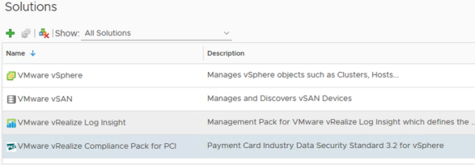 vrops compliance pack