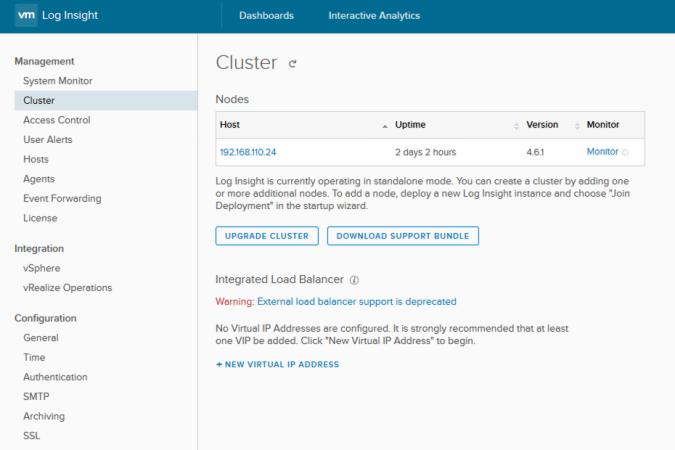 log insight upgrade cluster
