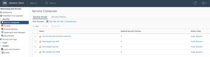nsx app tier security groups