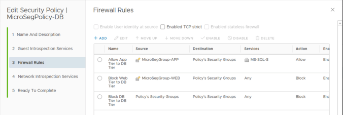db tier security policy