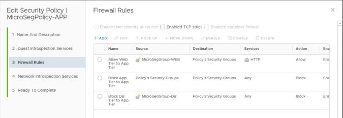 app tier security policy